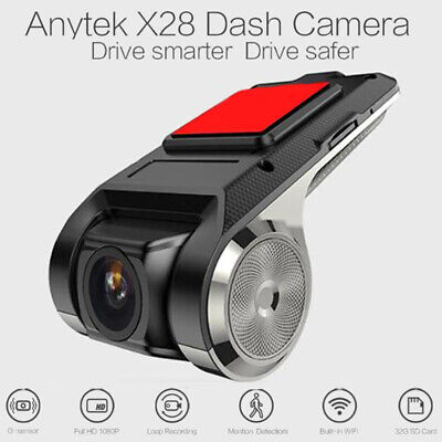 Original Anytek X28 FHD 1080P 150° Dash Cam Car DVR Recorder WiFi ADAS G-sensor