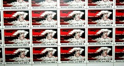 1945 Atomic Bombs End WWII Full Sheet Stamps Rescinded by US Postal Service