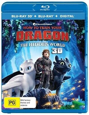 How to Train Your Dragon: The Hidden World [3D Blu-ray Disk] **Region Free**
