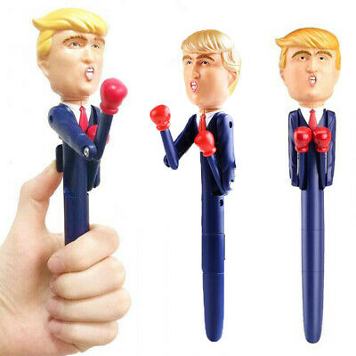DONALD TRUMP BOXING/Smack-TALKING Collectible PEN-8 different REAL VOICE Sayings