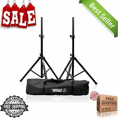 New Gorilla Tripod PA Speaker Stands, 35mm Top Hat Fitting With Carry Bag