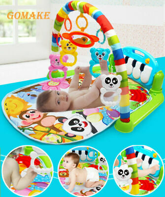Baby Gym Play Mat Lay & Play 3 in 1 Fitness Music And Lights Fun Piano Boy Girl!