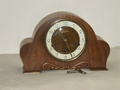 Art Deco Junghans 8-Day Mantel Clock,Westminster & Whittington chimes, 8 hammers