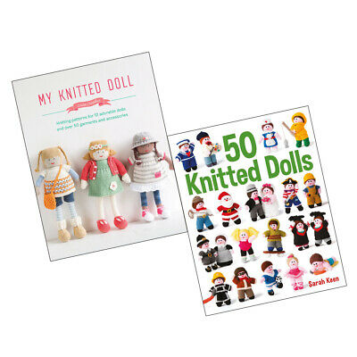 My Knitted Doll and 50 Knitted Dolls 2 Books Collection Set Brand NEW