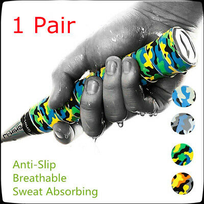 2pc Anti-slip Tennis Racket Badminton Squash Badminton Overgrip Tape Sweatband