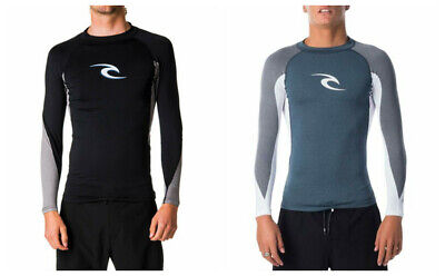 Rip curl Men's UV Sun Protection L/Sleeve Top Shirts Skins Tee Rash Vest XS-2XL
