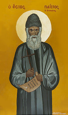 Icon Saint Paisios Παΐσιος Greek Orthodox Catholic Christian Byzantine Russian