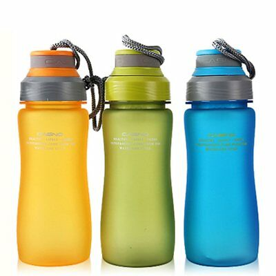 Sports Fitness Outdoor Water Bottle Hiking Cycling Gym BPA Free Drink Cup 600ML