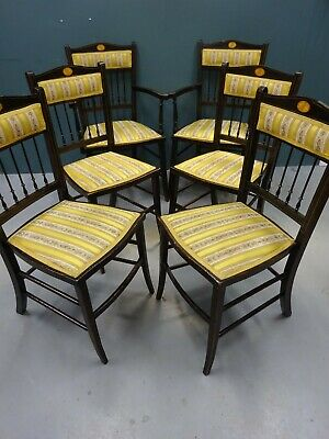 OFFERS - MUST GO!! Set of 6 (4+2) Regency Sabre Leg Dining Chairs