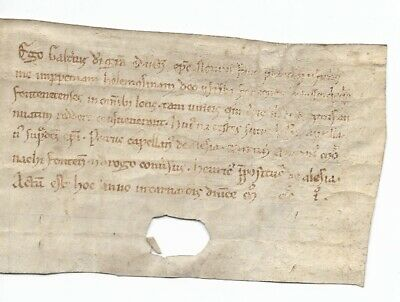 Early French Document in Latin Dated 1201