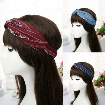 Chic Turban Women Twist Headband Summer Head Wrap Twisted Knotted Knot Hair Band