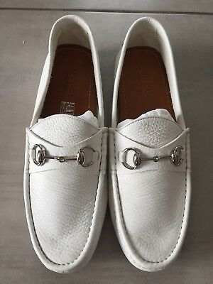 7d9d4c6714b Mocassini Pelle GUCCI Bianco 43.5 White Leather Loafers 9.5 Mocassins