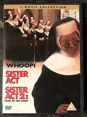 Sister Act-Sister Act 2 (2-Movie Dvd Set) Good As New Mint Free Post