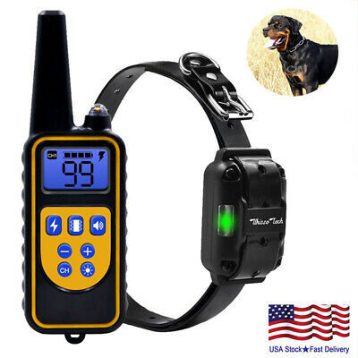Rechargeable 2600 FT Remote Dog Training Shock Collar Waterproof Hunting Traine