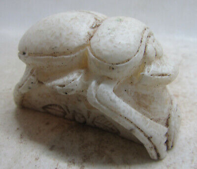 Beautiful Vintage Antique Egyptian Stone Scarab Statuette