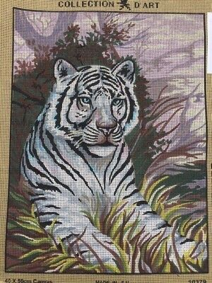 Tapestry - Printed Canvas - White Tiger - Made in E.U for Collection D'Art