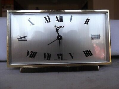 Swiza 8-day clock with Alarm, Working. Outstanding Condition. Modern Style.