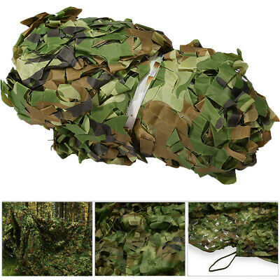3 x 5m Woodland leaves Camouflage Camo Army Net Netting Camping Military Hunting