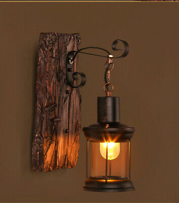 Antique Sconce Light Vintage Industrial Wood Sconce Retro Wall Sconce Lights New