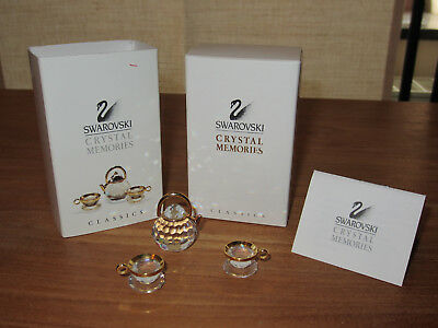 SWAROVSKI MEMORIES *NEW* Théière + 2 tasses Tea pot + 2 cups 174009