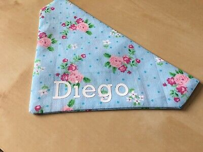 Small Personalised Handmade Slide on Collar Pet Bandana's - FREE DELIVERY
