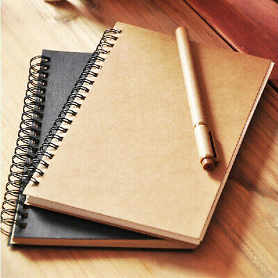 1Pc Hard Back Spiral Bound Sketch Book -Drawing Pad Sketching Paper For Student