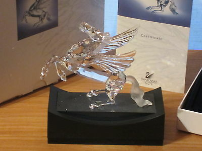 SWAROVSKI *NEW* SCS Pégase Pegasus 1998 + Socle Display 216327 L.15cm