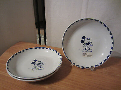 GUY DEGRENNE *NEW* MICKEY MOUSE MICKEY Set 3 Assiettes creuses 19cm