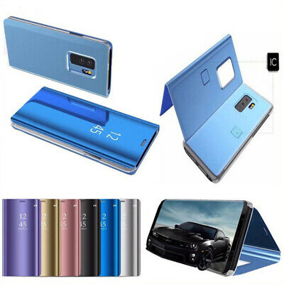 Samsung Galaxy S7 S8+S9 Smart View Mirror Wallet Leather Flip Stand Case Cover