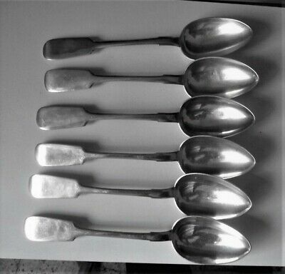 Antique Russian Imperial Silver 84 Set Of 6  Dinner Spoons  1899-1908