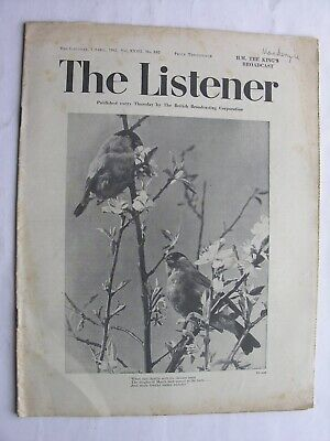 THE LISTENER April 2 1942 George VI Wilson Steer Libya Pacific War Clemence Dane