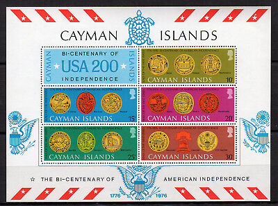 Cayman Islands feuillet timbres neufs 1976 American Indépendence 1776 / FT10
