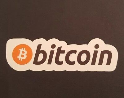 S402 Bitcoin logo crypto Sticker, laptop, guitar, wall, phone, tablet