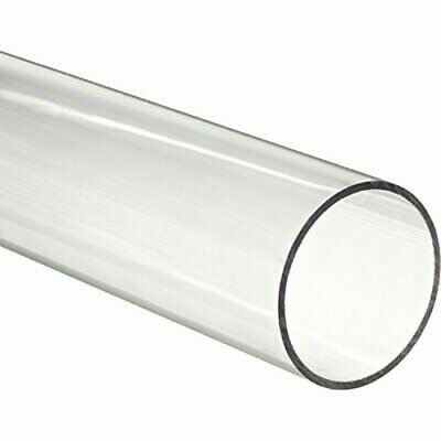 "Acrylic Round Tube, Clear, 1"" ID 1-1/2"" OD x 12"" Length (Pack of 2)"