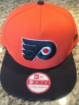 best cheap e92fa 7e8e2 Philadelphia Flyers orange black New Era 9fifty M   L NHL hockey hat cap new