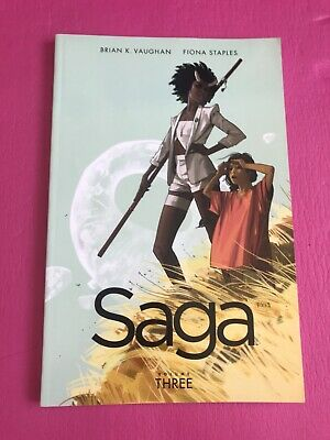 Saga - Volume 3 graphic novel Comic - Brian K. Vaughan - Fiona Staples