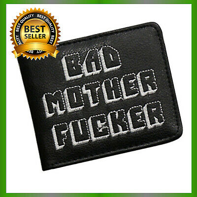 Bad Mother Wallet BMF Embroidered Handmade Men Leather Wallet Pulp Fiction Movie