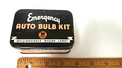1920's Emergency Auto  Bulb Kit - Westinghouse Mazda Lamps - Excellent Condition