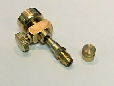 Propane Tank to R12 or R22 Adapter, 1/4 Male Flare Brass Cap & On/Off Valve,# 2