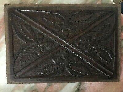 17th Century Carved Oak Leaves Panel