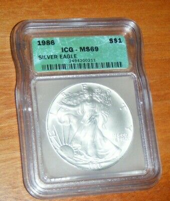 1986 American Silver Eagle - ICG MS69 PROOF