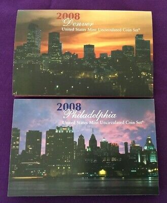 2008 P & D United States Mint Uncirculated Coin Set - 28 Coins In Total (B)