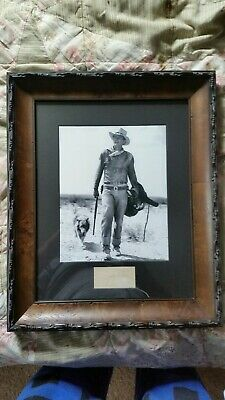 John wayne signed autographed  ( authentic ) Signed in pencil , professionally