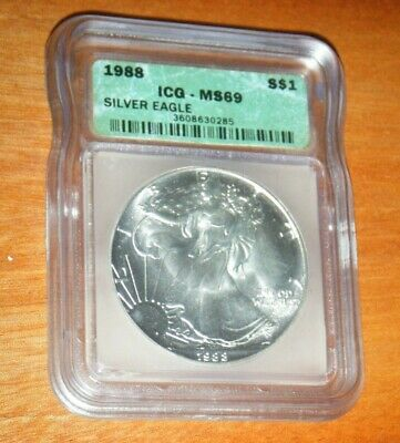 1988 American Silver Eagle - ICG MS69 - PROOF