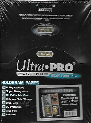 (25) Ultra Pro 4-Pocket Postcard Size Plastic Sheets / Pages With Free Shipping