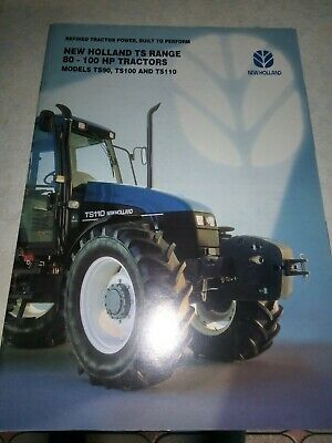 new holland tractor ts range sales brochure  20 pages