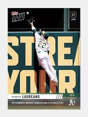 2019 Topps Now #119 Ramon Laureano-HR Robbery Begins Double Play (Pre-Sale)