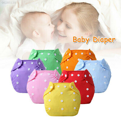 7A18 Cotton Nappy Cloth Diapers Reusable Soft Pocket Diapers Pants Baby