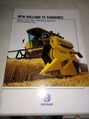new holland tc combines sales brochure  24 pages