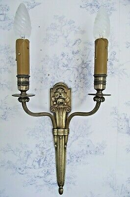 Lovely French Antique Bronze  Acanthus Leaf Rococo Style Single Wall Sconce 844